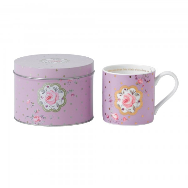 Rose Confetti Seasonal Mug in Tin