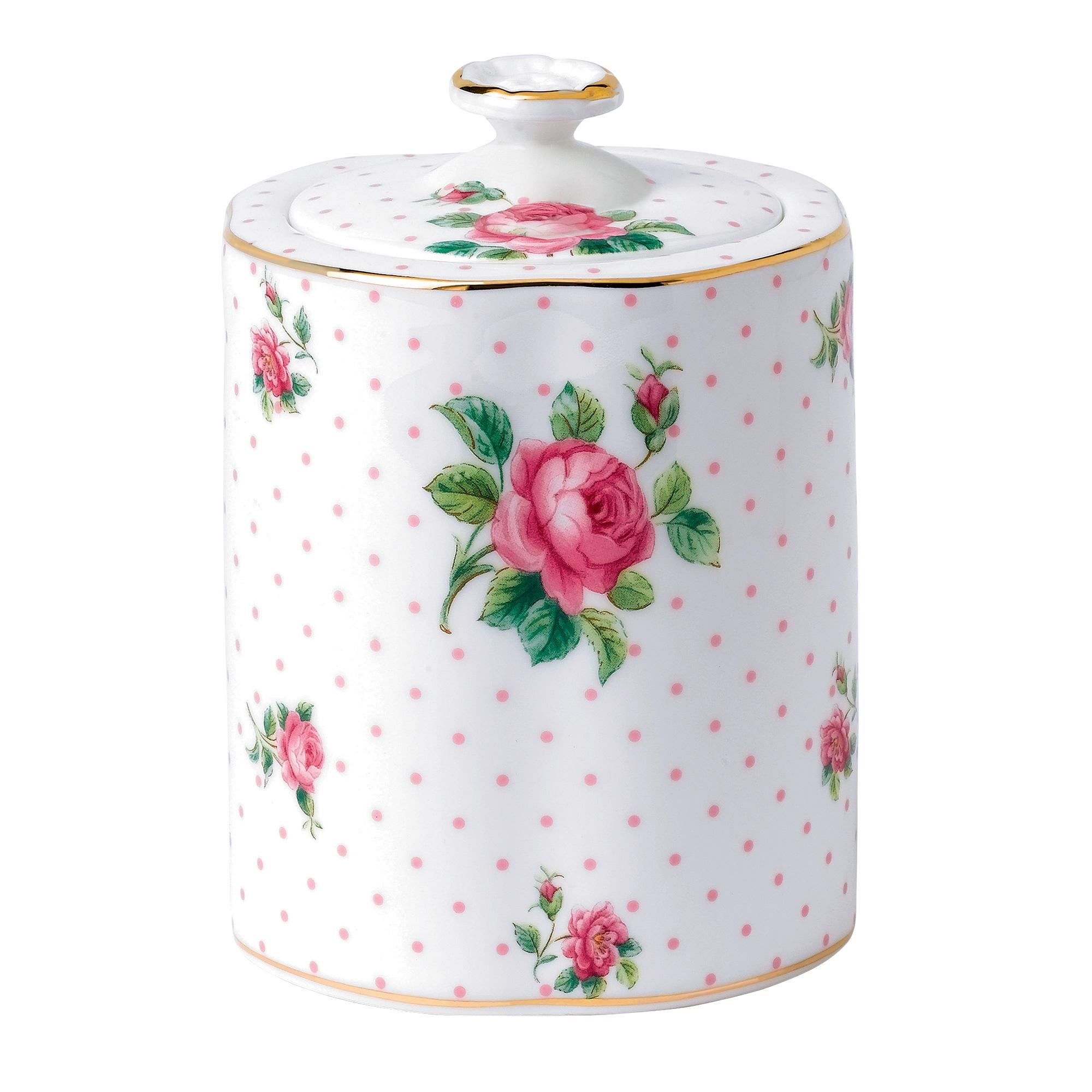 Tea Caddy Pink Roses