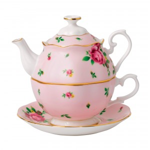 New Country Roses Tea For One (Pink)