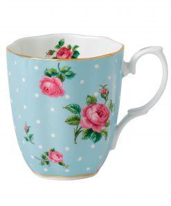 Polka Blue Vintage Mug