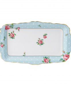 Polka Blue Vintage Sandwich Tray