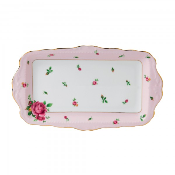 Vintage Sandwich Tray (Pink Roses)