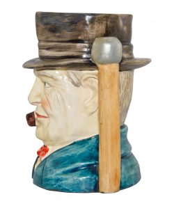 Winston Churchill Large Character Jug (Walking Stick Handle)