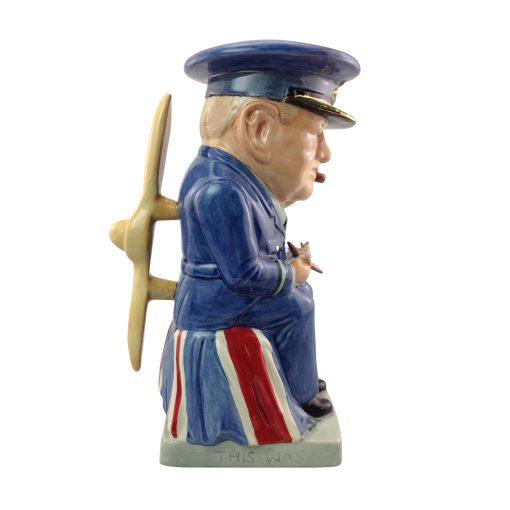 "Winston Churchill ""Air Commodore"" Large Toby Jug"
