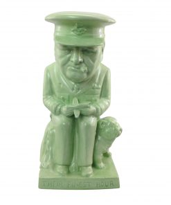 "Winston Churchill Large Toby Jug ""Air Commodore"" (Green Glaze)"