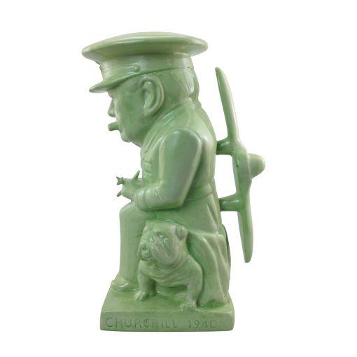 "Winston Churchill Large Toby Jug ""Air Commodore"" (Green Glaze)"