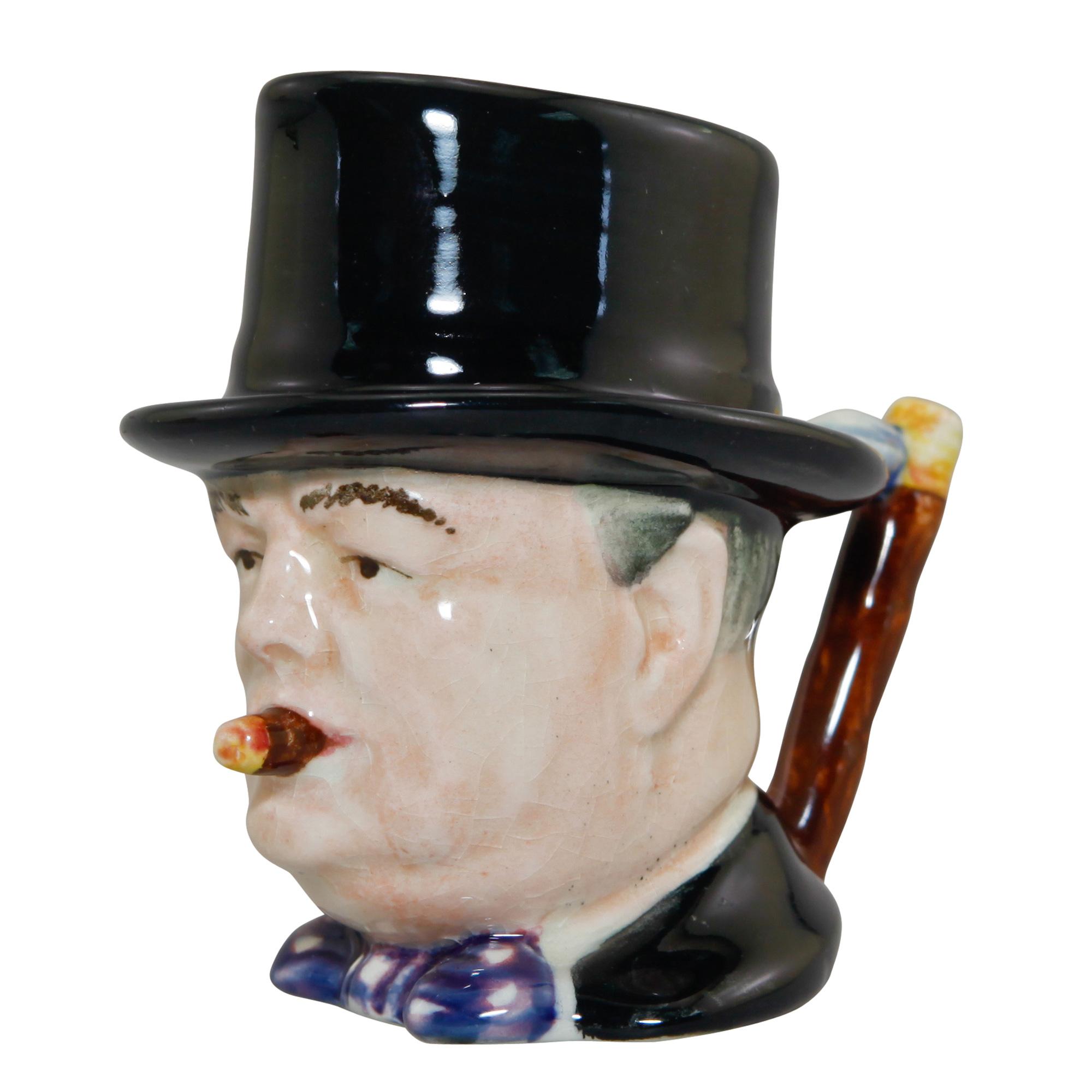 "Winston Churchill Miniature Character Jug ""Man of the Year"""