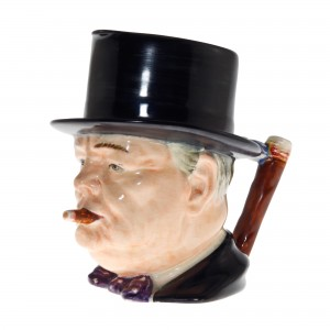"Winston Churchill Large Character Jug ""Man of the Year"""