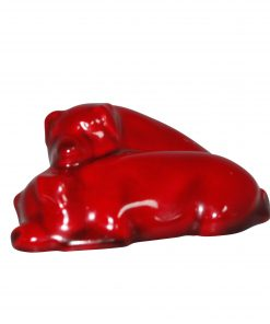 Flambe Pigs Snoozing - Both Ears Down, Model No. 62 (Small) - Royal Doulton Animal