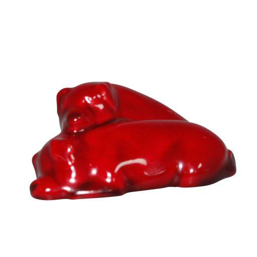 Flambe Pigs Snoozing - Both Ears Down, Model No. 62 (Small) - Royal Doulton Animal