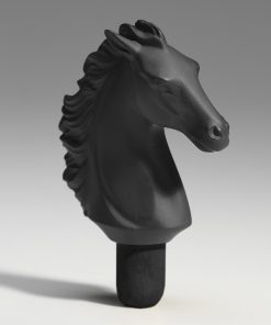 Bacchus Bottle Stopper Horse (Black) 1017096 - Lladro Functional Art