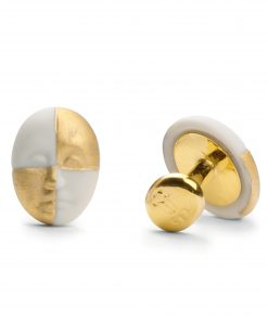 Cufflinks - Harlequin Face (Gold) 1010096 - Lladro Jewelry