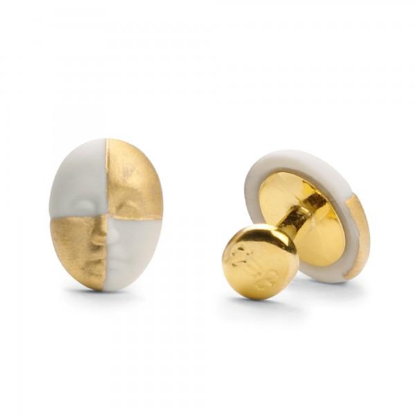 Cufflinks - Harlequin Face (Gold) 1010096 - Lladro Jewelry