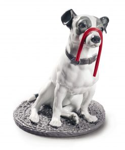 Jack Russell with Licorice 01009192.  Dogs and Candy Collection- Lladro