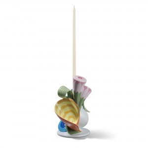 Multi-colored Naturofantastic Single Candle Holder 01007958 - Lladro Naturofantastic