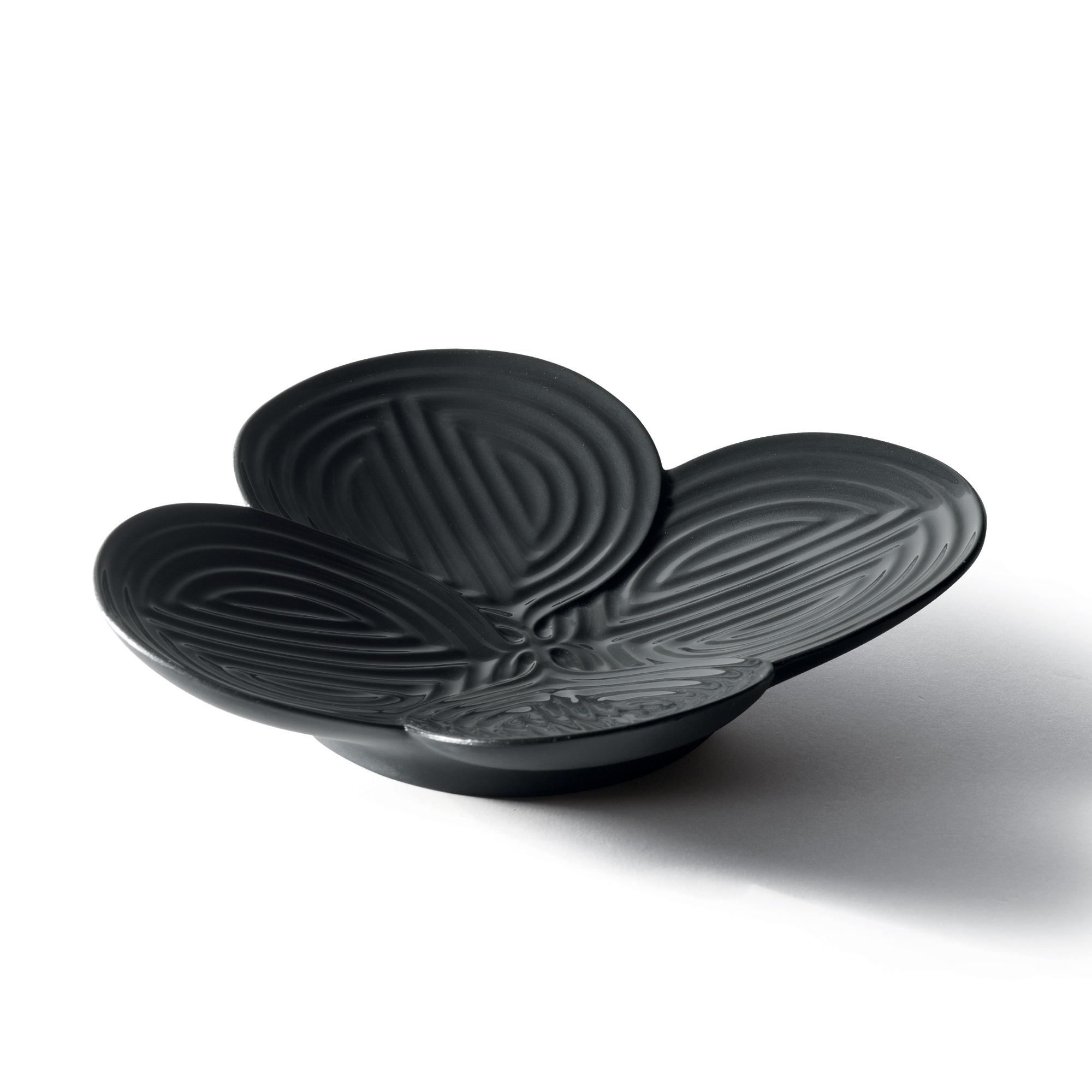 Naturofantastic Appetizer Plate (Black) 1007967 - Lladro Naturofantastic