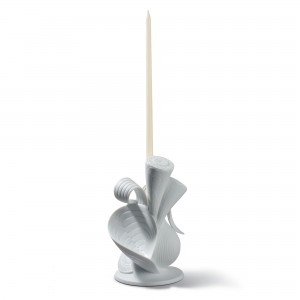 Naturofantastic Single Candle Holder (White) 1007957 - Lladro Naturofantastic