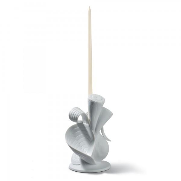 Naturofantastic Single Candle Holder (White) 1007957 - Lladro Naturofantastic