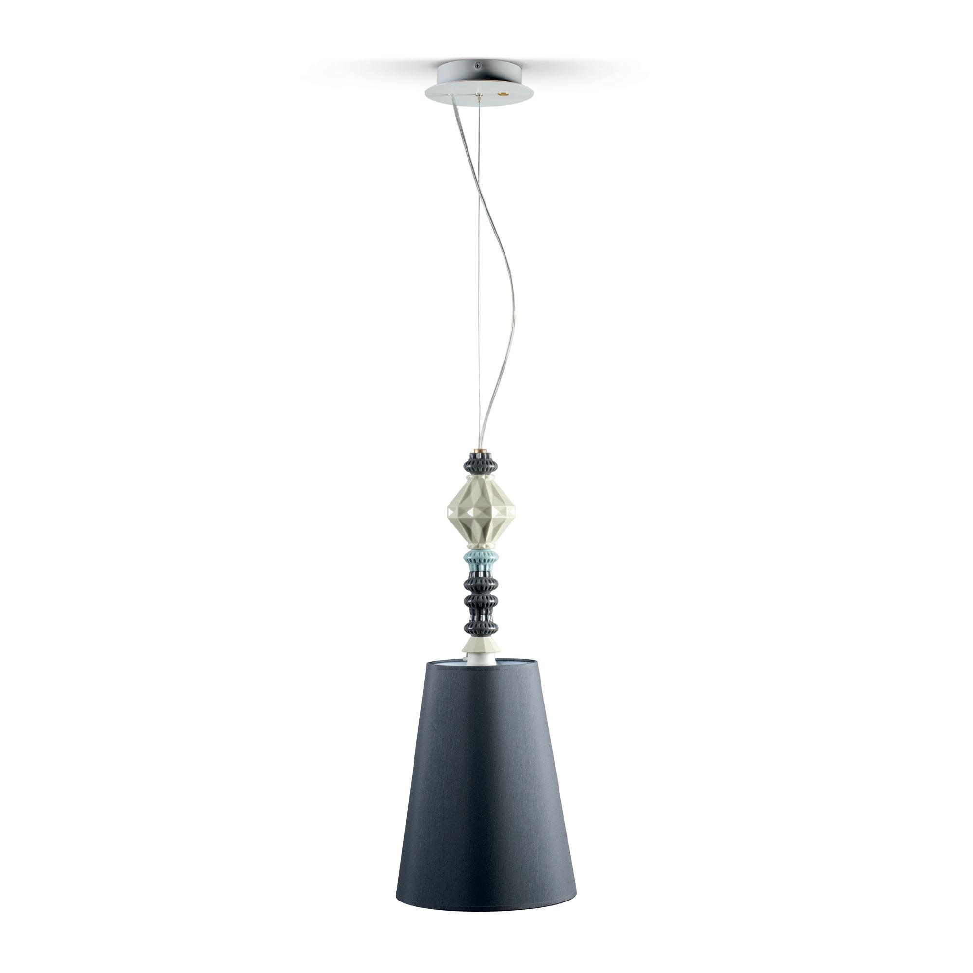 Pendant Lamp I - Black (Belle de Nuit Collection) 01023381 - Lladro Lighting