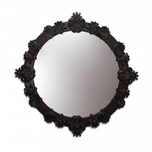 Round Mirror Large (Black) 01007790 - Lladro Functional Art