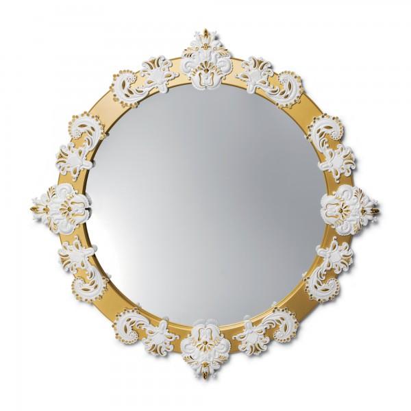 Round Mirror Large (White & Gold) 01007792 - Lladro Functional Art