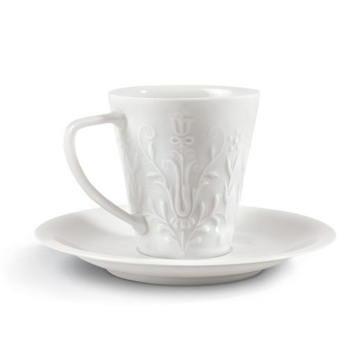 Lladro Logo Small Cup and Saucer 1009602 Functional Art