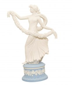"Wedgwood Jasperware Figure ""Laurel Garland"""