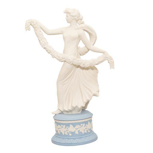 "Wedgwood Jasperware Figure ""Laurel Garland"""