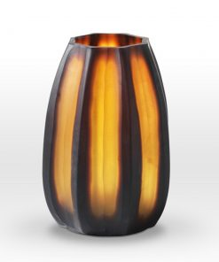 Nut Brown Cut Vase BE0110 - Viterra Art Glass