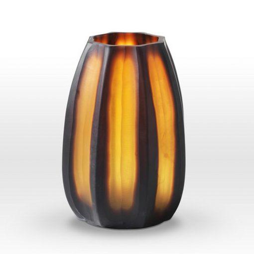 Nut Brown Cut Vase BE0110 - Viterra Art Glass