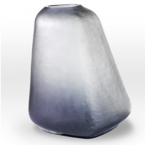 Cool Gray Vase BR0118 - Viterra Art Glass