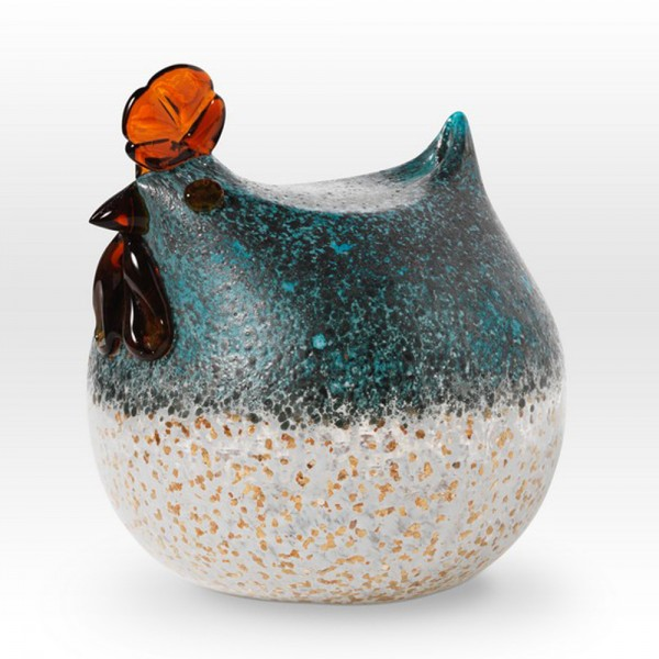 Round Chicken FH0106 - Viterra Art Glass
