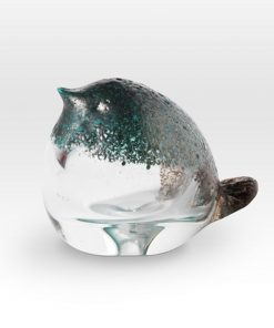 Small Chick Blue FH0403 - Viterra Art Glass