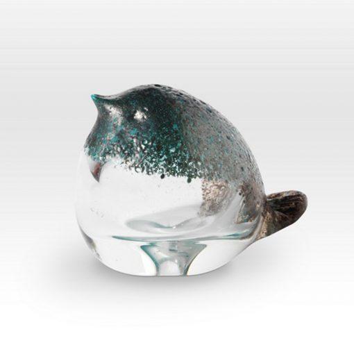Small Chick Blue FH0403 - Viterra Art Glass