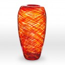 Red Orange Vase FL0114 - Viterra Art Glass