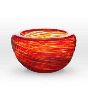 Red Orange Bowl FL0211 - Viterra Art Glass