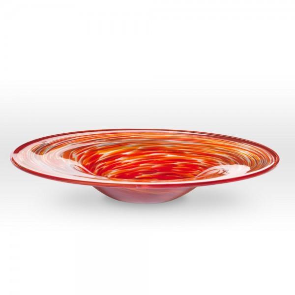 Red Orange Platter FL0318 - Viterra Art Glass