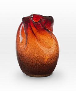Coppery Red Seeds Vase FR0108 - Viterra Art Glass