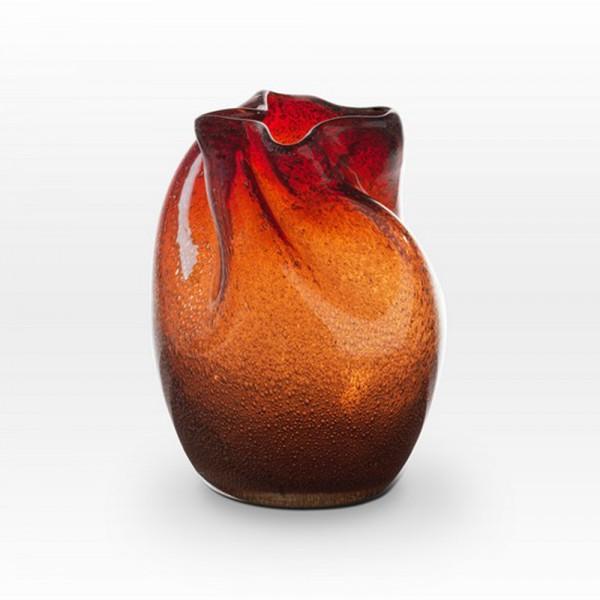 Coppery Red Seeds Vase FR0108 - Viterra Art Glass