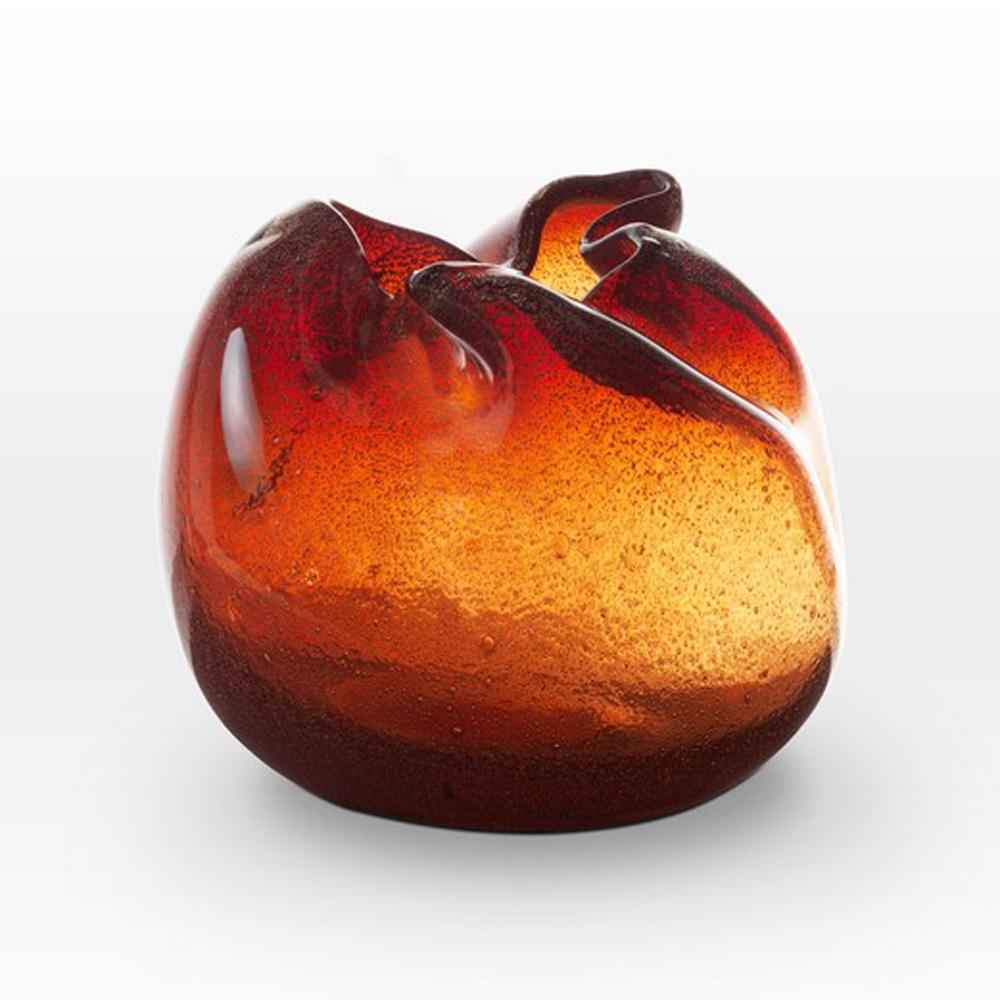 Coppery Red Seeds Vase FR0109 - Viterra Art Glass