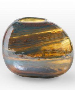 Lustre Caramel Teal Vase GL0107 - Viterra Art Glass