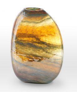 Lustre Caramel Teal Vase GL0112 - Viterra Art Glass