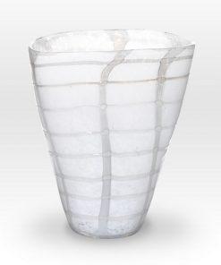 White Vase GR0110 - Viterra Art Glass