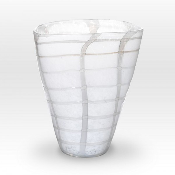 White Vase GR0110 - Viterra Art Glass