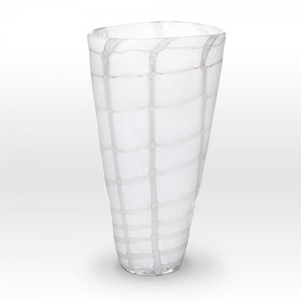 White Vase GR0113 - Viterra Art Glass