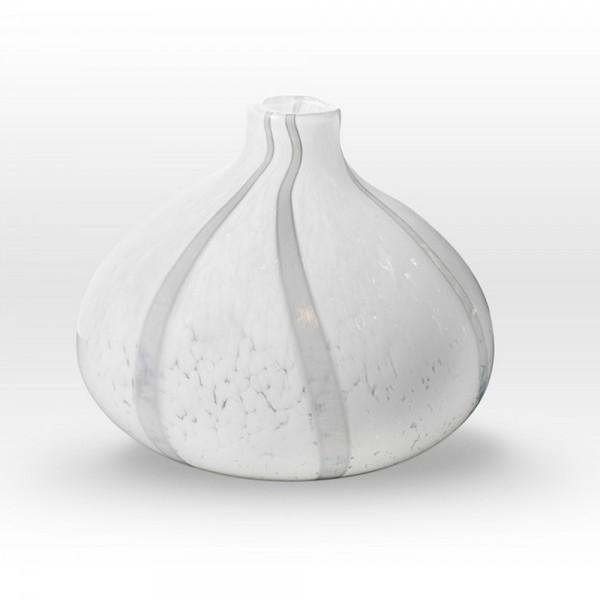 White Narrow Neck Vase GR0211 - Viterra Art Glass