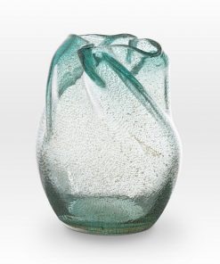 Ice Blue Seeds Vase IC0208 - Viterra Art Glass