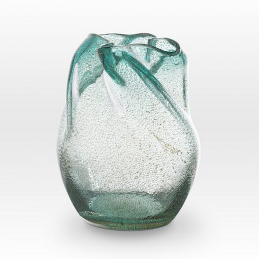 Ice Blue Seeds Vase IC0208 - Viterra Art Glass