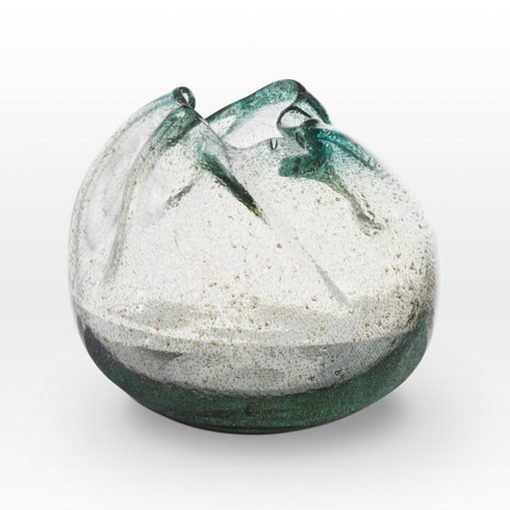 Ice Blue Seeds Vase IC0209 - Viterra Art Glass
