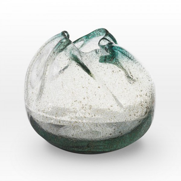 Ice Blue Seeds Vase IC0209 - Viterra Art Glass